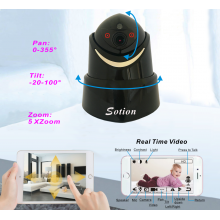 SOTION (04W) Full 1080P HD WiFi Internet Wireless Network IP Security Surveillance Video Camera System, Baby and Pet Monitor with Pan and Tilt, Two Way Audio & Night Vision