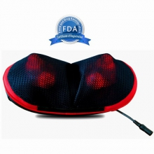 SOTION Shiatsu Massage Pillow with Heat FDA Approved Neck Shoulder Back Deep Kneading Massager for Car, Home and Office Use(Black)