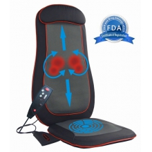 SOTION Shiatsu Full Back Massage Seat Cushion Massager with Heat, Deep Kneading, Rolling and Vibrating(Black)