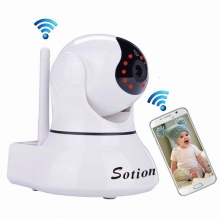 Sotion Super HD Wireless Security IP Camera, Internet Network Home Indoor Surveillance Cameras Monitoring System, Baby / Elder / Nanny / Pet Video Monitor with Pan & Tilt, Two Way Audio & Nigh
